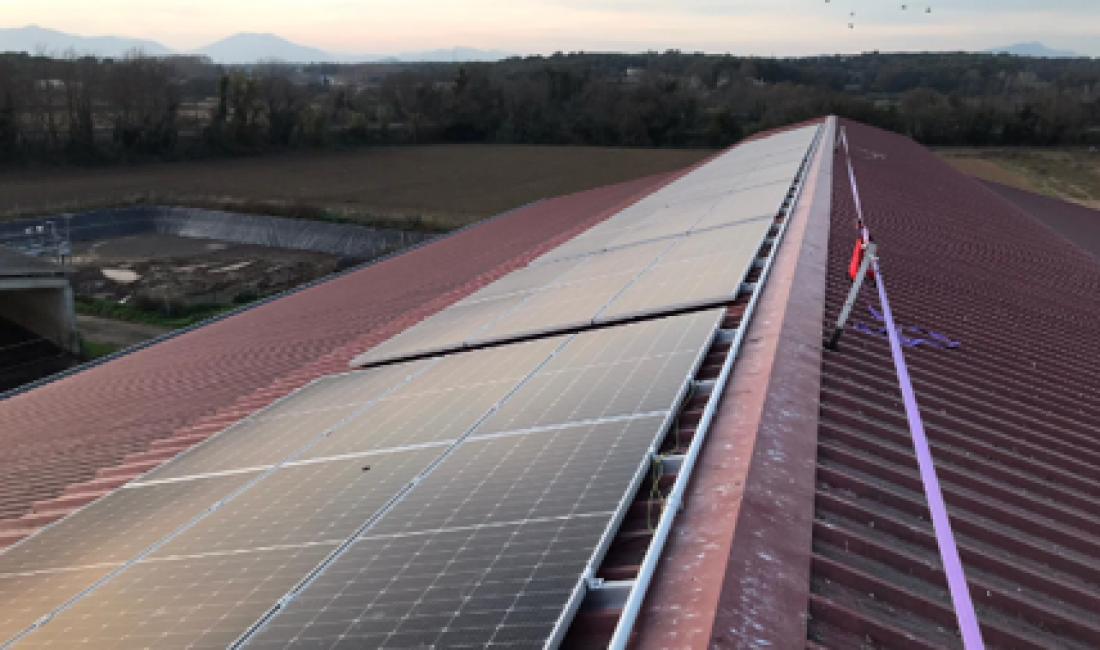 Instalación fotovoltaica de 32kWp para autoconsumo con excedentes en la granja Mas Gener, Riudellots.